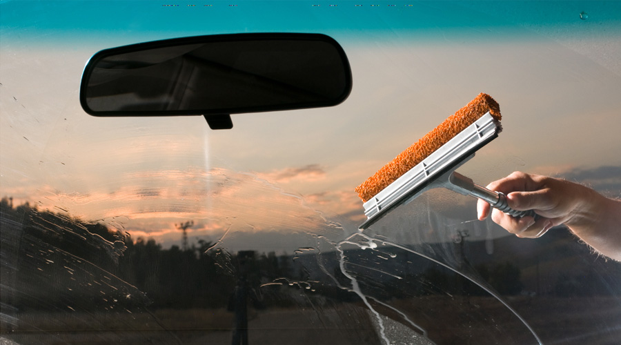 Cleaning your windshield