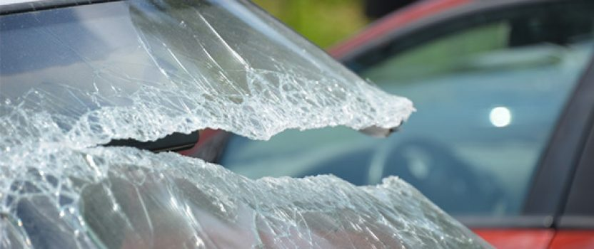 Ice chunk smashes into park rangers' windshield
