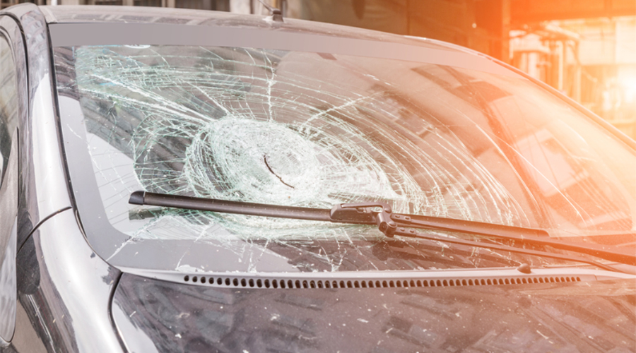 New patent changes the way a windshield breaks to aid in escaping vehicles
