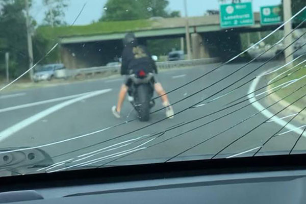 road rage motorcyclist